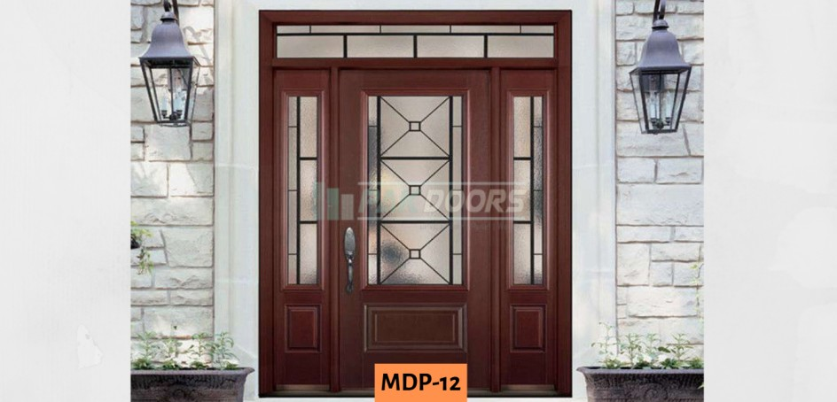 Modern Glass Main Entrance Door Design