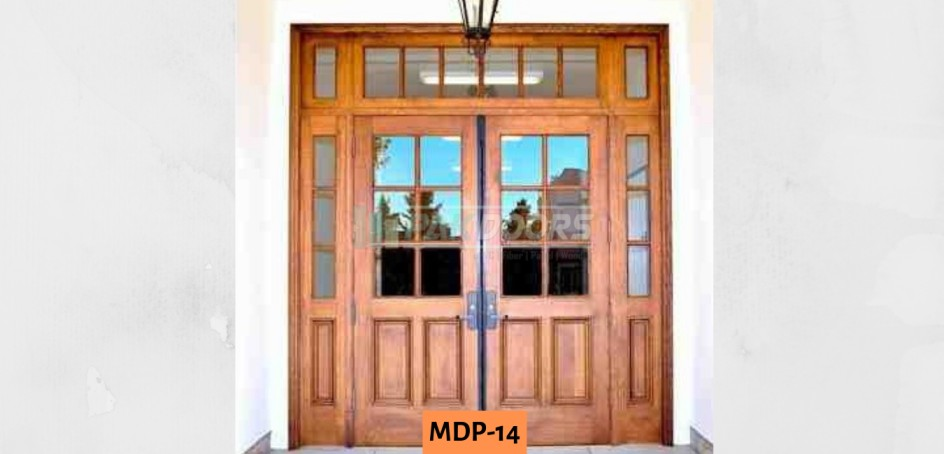 Glass + Wooden Door Design
