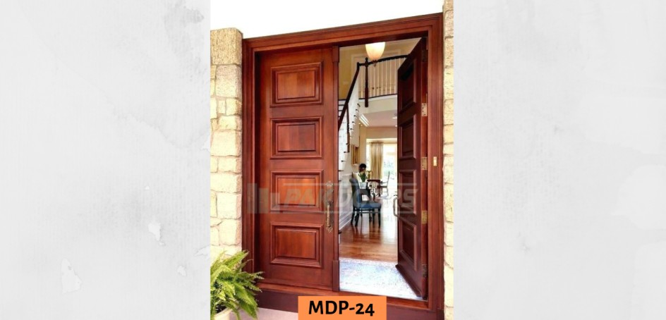Solid Wooden Main Entrance Door Design